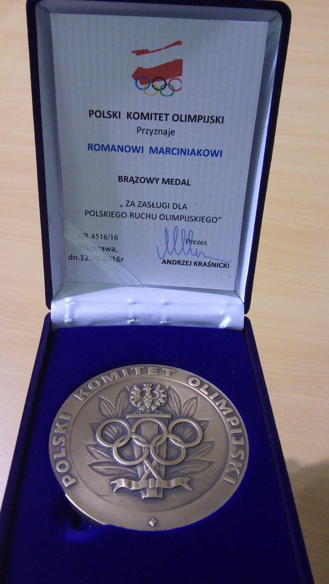 Brązowy medal PKOL dla Romana Marciniaka