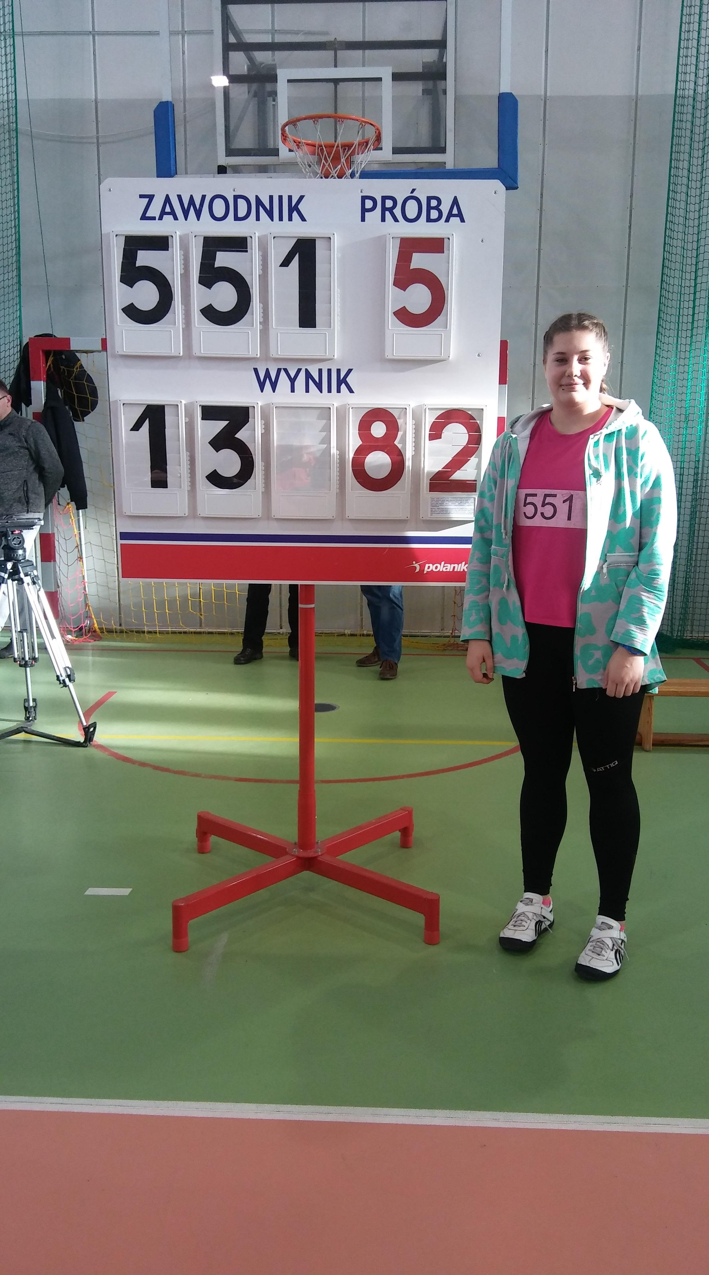 Natalia Klocek 1m. 13.82m