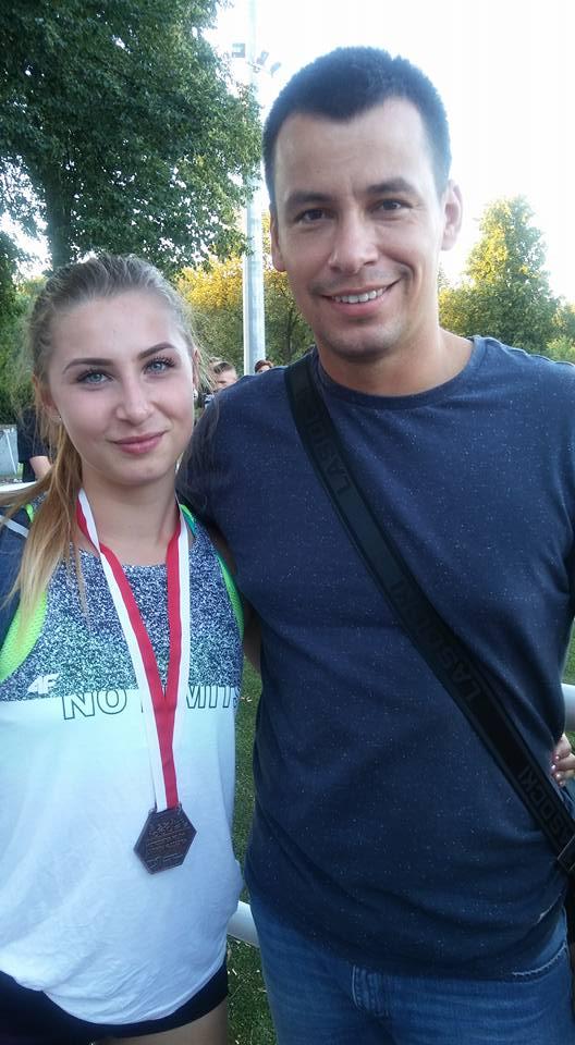 Aleksandra Styś z trenerem Mateuszem Gościniakiem fot. Agnieszka Maluśkiewicz