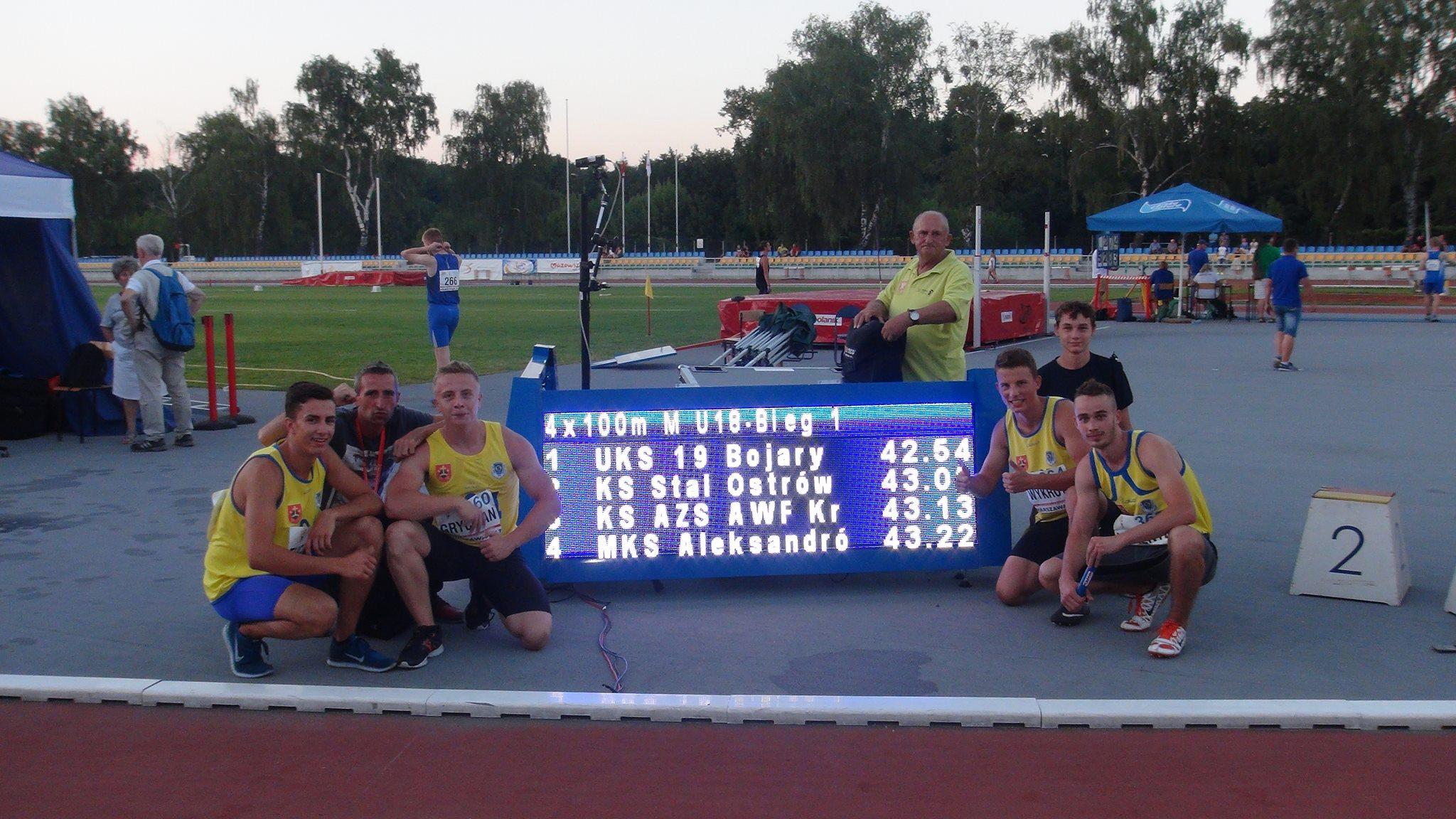 KS Stal Ostrów Wlkp. - sztafeta 4x100m fot. Michał Walczak